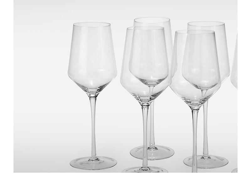 10个包邮红酒杯500ml高脚套装家用大肚子欧式水晶玻璃斜口