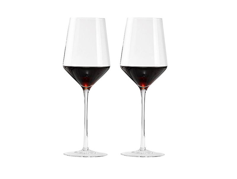 波尔多红酒杯水晶杯家用高脚杯欧式2个一对套装葡萄酒杯